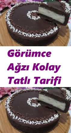 Turkish Delight, Homemade Beauty Products, Turkish Recipes, Frozen Yogurt, Kitchen Recipes, No Bake Desserts, Food And Drink, Sweet, Chocolate Cakes