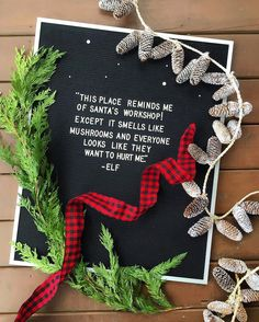 The best way to spread Christmas cheer is sharing Elf quotes til the end of the year. Christmas Mood, Christmas Quotes, Merry Christmas, Christmas Movies, Christmas Ideas, Buddy The Elf Quotes, Felt Letter Board, Felt Boards, Cute Christmas Wallpaper