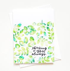 THINKING OF YOU ALWAYS card by Agnieszka Malyszek