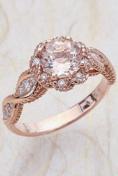 morganite set and art deco engagement rings 3