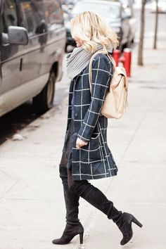 Wear this coat window shopping. Get in on the windowpane trend! Just click on the picture.