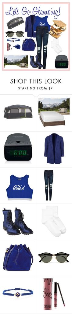 """""""Let's Go Glamping!"""" by ccatprvncess ❤ liked on Polyvore featuring interior, interiors, interior design, home, home decor, interior decorating, Select Luxury, Memorex, Topshop and J Brand #letsgoglamping"""
