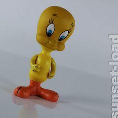 Tweety orig. Looney Tunes Figur 60s Warner Brothers H. 16 cm vintage 60er Jahre