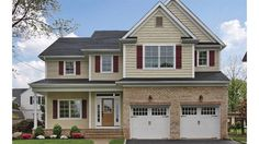 2 story, 2328 square foot, ready-to-build house plan from BuilderHousePlans.com Master on 2nd floor