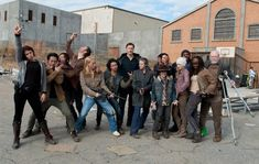 The cast of The Walking Dead having a little fun...