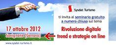 Iscrizione seminario gratuito Savignone | News Sysdat Turismo Spa