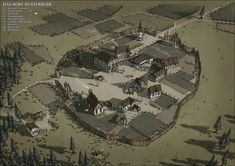 """tabletopresources: """" The Town Duesterrode by SteffenBrand Check out Tabletop Gaming Resources for more art, tips and tools for your game! Fantasy City Map, Fantasy Town, Fantasy Castle, Fantasy Places, Medieval Fantasy, Fantasy World, Bungalow Haus Design, Castlevania, Village Map"""