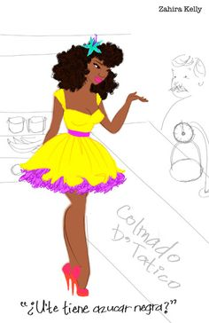 empoweredafrolatina:  Our very first Empowered Afro-Latina, Zahira Kelly! and the artist behind the avatar we chose for this tumblr! Zahira is a TREMENDOUS talent, I absolutely love that I can see myself in her art and photography! Love her work to smithereens!  Thank you so much!!! <3 <3