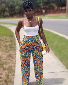 Ankara pants Stylish and fabulous! idesign 88 is bringing it with our Sabah pant African Print Jumpsuit, African Print Clothing, African Print Dresses, African Print Fashion, Africa Fashion, African Prints, African Fashion Designers, Latest African Fashion Dresses, African Dresses For Women