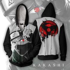 Kakashi Sharingan Zip Up Hoodie