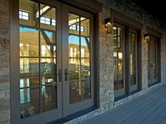 HGTV Dream Home Front Yard Pictures With three sets of French doors, the front porch offers easy access to the great room. Hinged Patio Doors, French Doors Patio, Lofts, Hgtv Dream Homes, Home Goods Decor, Craftsman Bungalows, 49er, Exterior House Colors, Exterior Homes