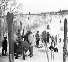 Activities at the public shelter, Snow Basin :: Univ of Utah - Multimedia Archives Photographs