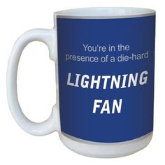 TreeFree Greetings lm44195 Lightning Hockey Fan Ceramic Mug with FullSized Handle 15Ounce >>> You can get more details by clicking on the image.