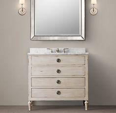 so simple/gorge bathroom set up-- love so much - Maison Single Vanity Sink Single Sink Vanity, Vanity Sink, Bath Vanities, Sinks, Single Vanities, Guest Bathrooms, Small Bathroom, Bathroom Ideas, Master Bathroom