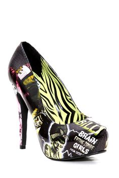 Brain Eating Zombie Girls from Outer Space Iron Fist heels.  I love the crazy heels they are coming out with!