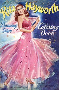 Rita Hayworth coloring book