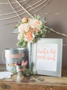 """You HAVE To See This Adorable """"Bucket List"""" Wedding Guest Book!"""