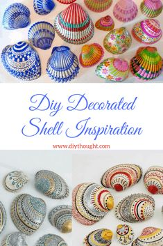 Diy Decorated Shell Inspiration - diy Thought, Move over rock painting, decorating shells is our new favorite pastime! Today we have found plenty of diy decorated shell inspiration to get you start. Seashell Painting, Seashell Art, Seashell Crafts, Beach Crafts, Diy Painting, Rock Painting, Mermaid Crafts, Summer Crafts, Sharpie Crafts