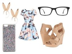"""""""something ariana grande would wear"""" by chic196 ❤ liked on Polyvore featuring Chi Chi, Jessica Simpson, Aamaya by Priyanka, Ray-Ban and J.Crew"""