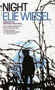 """Night,"" Elie Wiesel, winner of the 1986 Nobel Peace Prize, ""A slim volume of terrifying power,"" The New York Times. When Wiesel and his family were rounded up they had never heard the word ""Auschwitz"".  4 years later Weisel was the only one to survive and his book was rejected by 15 publishers before it was picked up by a small press. 8 weeks later it made the New York Times Best seller list."