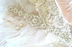 Serena Sash - Crystal and Pearl Bridal