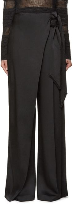 Maiyet Black Wide-Leg Trousers