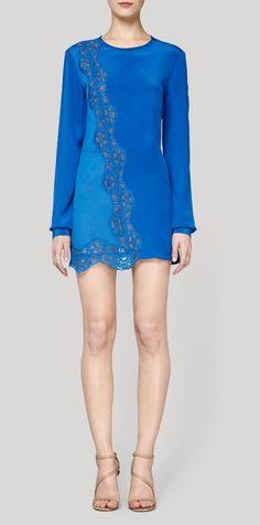 Stella McCartney Klein blue Joan dress