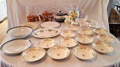 Vintage fine porcelain entertainment, Polish Pottery teapot, unique Aynsley server, Royal Doulton, Staffordshire and other items.