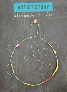 kids make faces from wire in the style of American artist and sculptor Alexander Calder You are in the right place about Art Education christmas Here we offer you the most beautiful pictures about the Alexander Calder, Artists For Kids, Art For Kids, Kids Study, 7 Arts, Atelier D Art, Ecole Art, Art Activities For Kids, Preschool Art