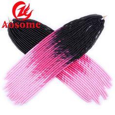 3tone Synthetic Faux Locs Crochet Dread Locks Synthetic Marley Twist Braid Hair #AOSOME #Dreadlocks