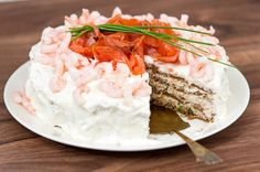 Sandwich Cake, Sandwiches, Georgian Food, Fish Dishes, Feta, Good Food, Fun Food, Camembert Cheese, Mashed Potatoes