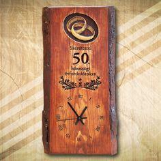 50. házassági évfordulóra fa falióra
