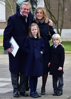 Jamie Spencer-Churchill, 12th Duke of Marlborough | The Duke of Marlborough (Consuelo Vanderbilt Balsan's great grandson) attends the Ceremony of Thanksgiving honoring his father the 11th Duke, with his second wife Edla and children Lord Caspar, six, and Lady Araminta