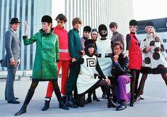 Fabulous 60s Pierre Cardin shoot, complete with mod riding caps.