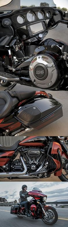 Decked out fender to fender with custom details and our most powerful engine and sound system. | 2017 Harley-Davidson CVO Street Glide #harleydavidsonroadkingmotorcycles