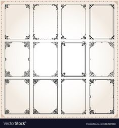 Find Decorative Vintage Frames Borders Backgrounds Rectangle stock images in HD and millions of other royalty-free stock photos, illustrations and vectors in the Shutterstock collection. Thousands of new, high-quality pictures added every day. Motif Art Deco, Art Nouveau Pattern, Art Nouveau Design, Background Vintage, Textured Background, Free Vector Images, Vector Free, Modern Hipster, Vintage Banner