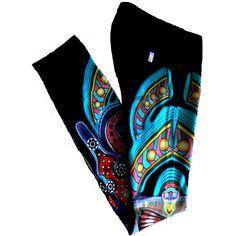 Manish Arora Notify Multicolor Printed Pants (18.270 RUB) ❤ liked on Polyvore featuring black and manish arora