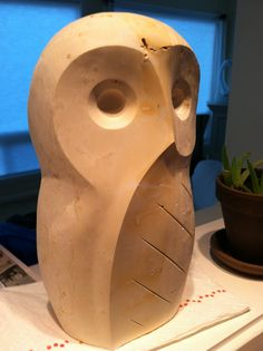 Owl - limestone - Travis Johansen