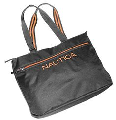 Women's Top-Handle Handbags - Nautica Unisex Maritime 11 17 Tote Gray with Orange * See this great product. Evening Bags, Gym Bag, Reusable Tote Bags, Handle, Shoulder Bag, Unisex, Handbags, Orange, Gray
