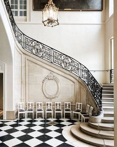 at the museum rodin Curved Staircase, Staircase Design, Luxury Staircase, Musée Rodin, Auguste Rodin, Rodin Museum, French Castles, Beautiful Places To Travel, Romantic Travel