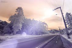 Infrared Road | Minhas primeiras fotos utilizando filtro infravermelho (760nm).  My first pictures using infrared filter (760nm).  Eduardo Pasqualini Fotografias - Fotógrafo em Rio do Sul, Santa Catarina, Brasil.