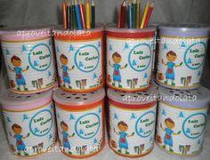 Latas decoradas - Pintando o sete  www.facebook.com/aproveitandolata