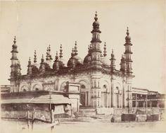 Tipu+Sultan+Mosque,+Calcutta+(Kolkata)+-+c1850's