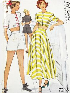 Vintage 40s Playsuit Pattern  McCall 7218  by ThePatternSource, $50.00
