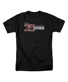 This Black Chevrolet Z28 Logo Tee - Men's Regular is perfect! #zulilyfinds