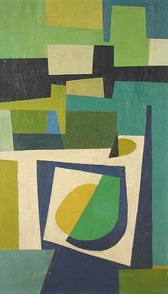 burton wasserman - construction 1950 I like the geometric images that were popular, different colours of course Mid Century Art, Art And Illustration, Grafik Design, Art Plastique, Geometric Art, Painting & Drawing, Modern Art, Contemporary Artists, Abstract Art