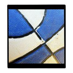 Blue and White Basketball Binder