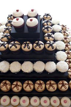 Georgetown Cupcake Red Velvet, Peanut Butter Fudge, Chocolate Coconut, Salted Caramel, and Vanilla & Buttercream cupcakes