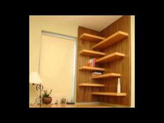 DIY Floating Corner Shelves - YouTube