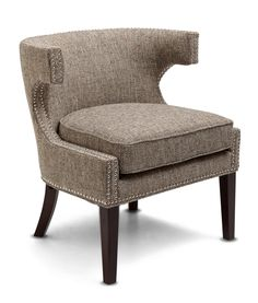 Stylish Updated Accent Chair In Woven Gray, Black, Cream And Camel Fabric.  Includes